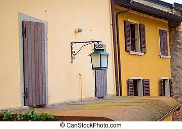small town street in Lake Garda Italy.