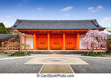 Temple Gate in Kyoto - Sanjusangendo Shrine gate in Kyoto,...