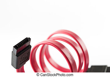 Red Serial-ATA cable isolate