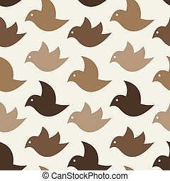 Bird vector art background design for fabric and decor....