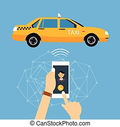 call taxi cab from mobile phone application online - call...