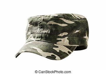 Camouflage military cap - Camouflage cap used by armies...