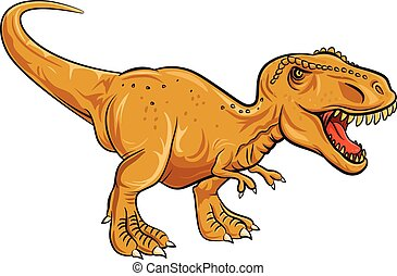 Tyrannosaurus Rex character - Vector illustration of...