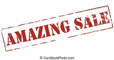 Amazing sale - Rubber stamp with text amazing sale inside,...