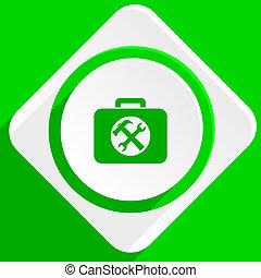toolkit green flat icon