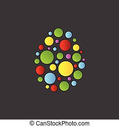 Abstract colorful Easter egg vector background