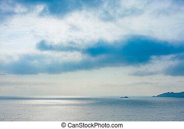 marina, pomeriggio, inverno