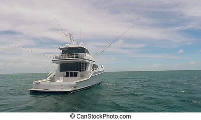 Fishing Boat In The Ocean - Modern Fishing Boat In The Ocean...