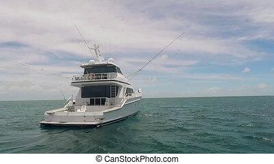 Fishing Boat In The Ocean - Modern Fishing Boat In The Ocean...