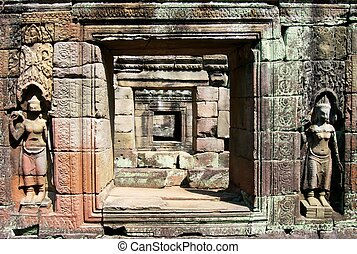 Ancient Doorway - 12th century doorways at the temple...