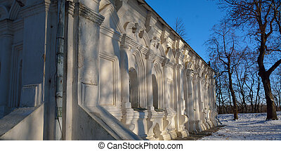 detail of the western wall of Mazepa's house in Chernihiv,...
