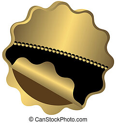 Golden and black award