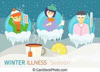 Winter Illness Season People Design - Winter illness season...