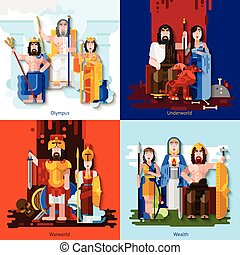 Olympic Gods 2x2 Cartoon Concept - Olympic gods 2x2 concept...