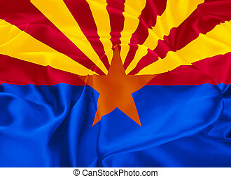 State Flag of Arizona - The state flag of Arizona, Phoenix -...
