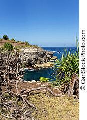 coastline at Nusa Penida island - dream coastline at Bali,...