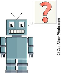 Funny Robot with question mark