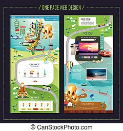 creative one page web design