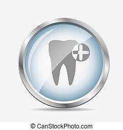 dente, Símbolo, vetorial, Ilustração, ícone