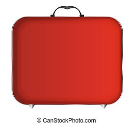 Red Bag Icon Vector Illustration