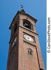 Belltower church Roccabianca Emilia-Romagna Italy