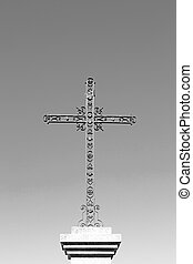 catholic abstract sacred cross in italy europe and the sky...