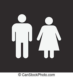 Male and Female Restroom Symbol Icon. 