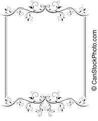 vintage frame - illustration of vintage frame in black and...