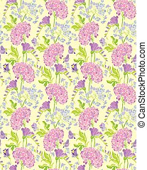 Seamless pattern with Realistic graphic flowers - gardenia...