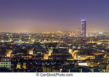 Montparnasse night cityscape - Beautiful Paris night...