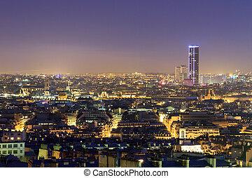 Montparnasse night cityscape