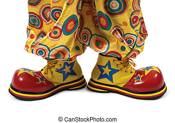 Clown shoes - A huge pair of clown shoes.