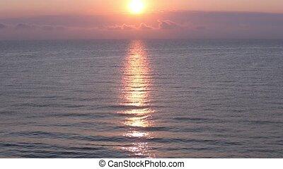 Sea Sunrise View - Beautiful sea sunrise view with sun...