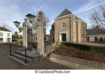 Reformed church in Klundert in the Netherlands