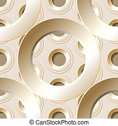 Vector seamless pattern with metal holes - Vector seamless...