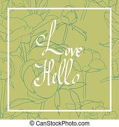 Handwritten Love Script. Love vector. Valentines Day Card...