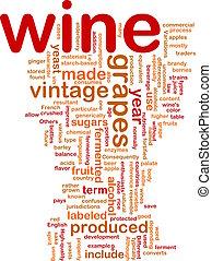 Wine vintage background concept
