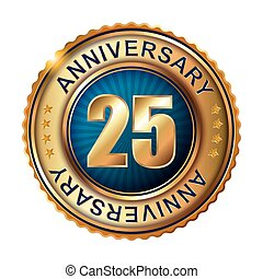 25  years anniversary golden label.