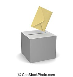 Vote or sending letter. 3d rendered illustration.