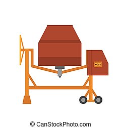 Concrete vector flat syle mixer isolated on white...
