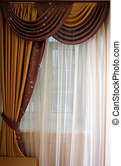 curtain   - Beautiful curtain at a window