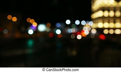 Circular citylights - Circular defocused traffic and...