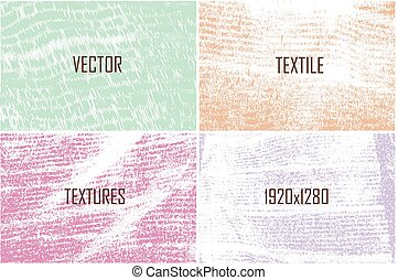 set of vector textures