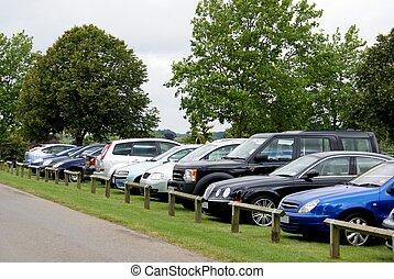 car park - cars parked in a car park
