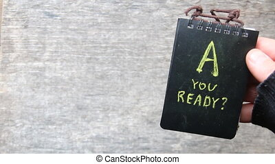 Are You Ready idea - Are You Ready text, yellow inscription...