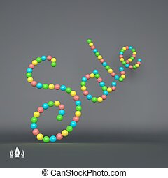 Sale 3D Vector Text illustration Usable for Different...