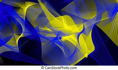 Abstract background in blue,yellow and grey colors