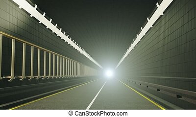 Tunnel with the light in end