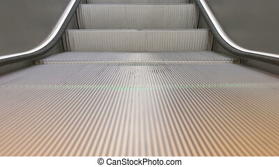 Train Station Escalators - Detailed close-up of running...