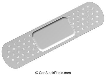 Bandaid, isolated on white background 3D render
